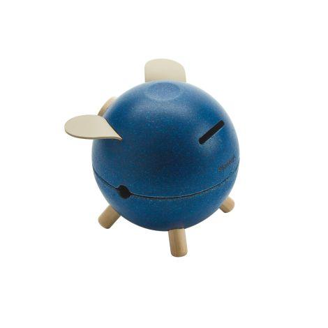 PlanToys Sparschwein Blau