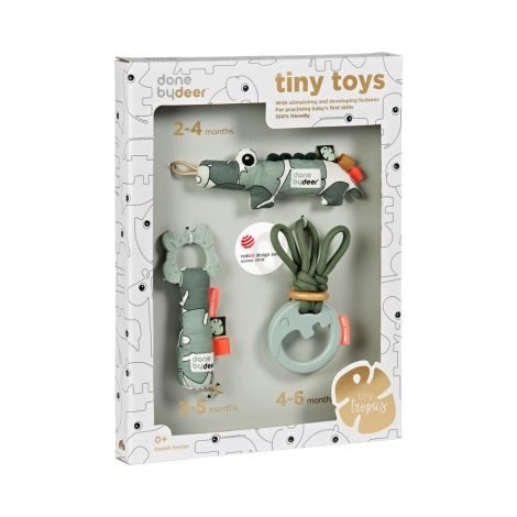 Done by Deer Babyspielzeug Tiny Tropics 3er-Set