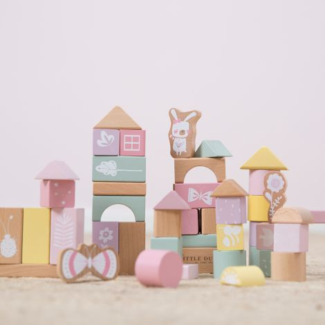 Little Dutch Holzbausteine in Box Adventure Pink