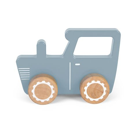 Little Dutch Holz Traktor Blau