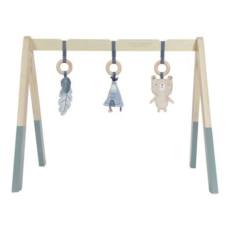 Little Dutch Holz Babygym Spieltrapez mit Spielzeug Blue
