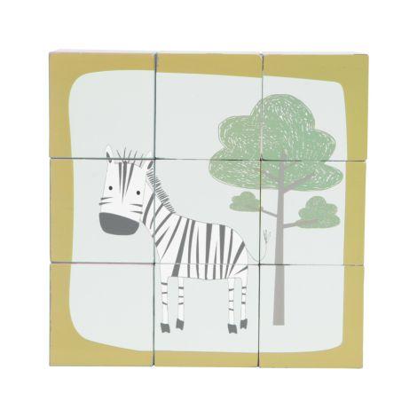 Little Dutch Holz Würfelpuzzle Zoo