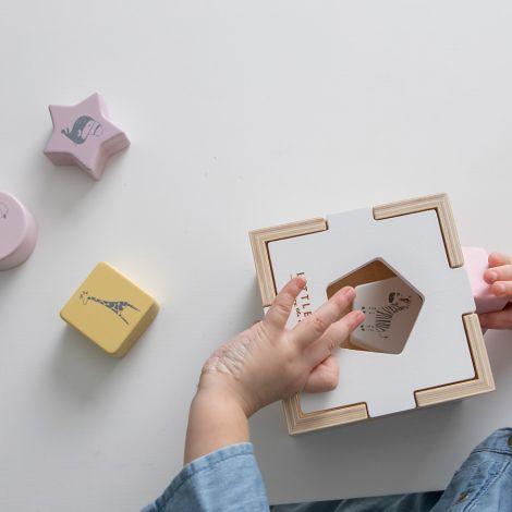Little Dutch Holz Formen-Steck-SpielZoo Pink