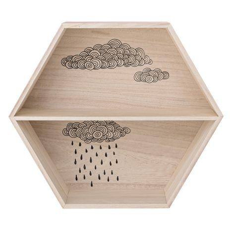 Bloomingville Aufbewahrungsbox Hexagonal Nude/Natural •