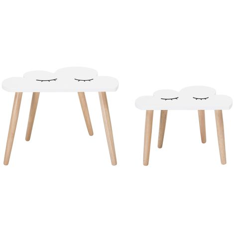 Bloomingville Tisch Wolke White 2er-Set