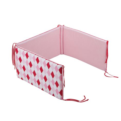 Little Dutch Kinderbettpolster Rauten Pink •