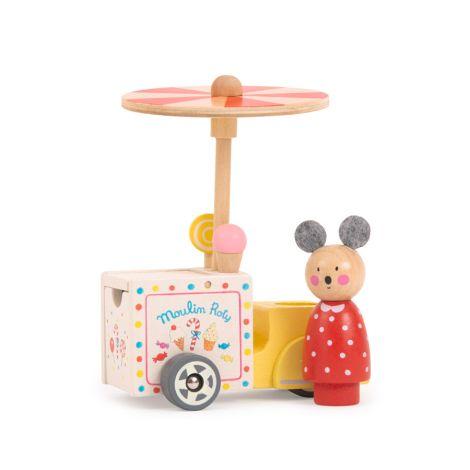 Moulin Roty Eiswagen mit Figur