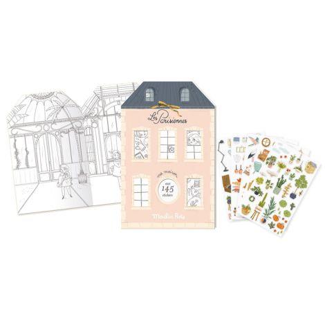 Moulin Roty Malbuch mit Stickern Les Parisiennes