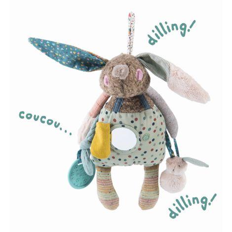 Moulin Roty Aktivitäten-Puppe Kaninchen 29 cm