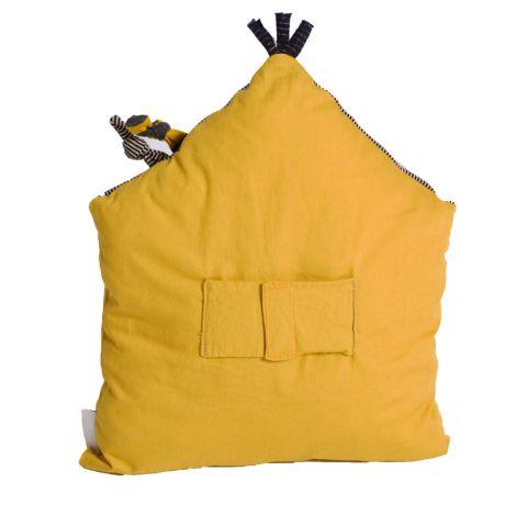 Moulin Roty Aktivitäten Kissen Gelb