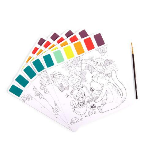 Moulin Roty Malbuch mit Wasserfarben