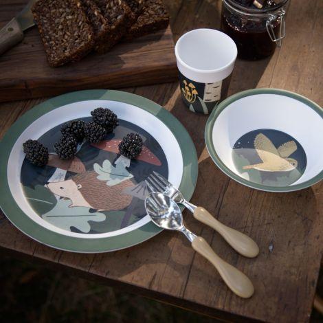 Sebra Melamin Geshirr-Set Nightfall Midnight Green 5-teilig