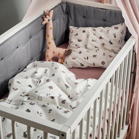 Leander Nestchen für Linea und Luna Babybett Cool Grey