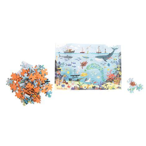Moulin Roty Puzzle des Entdeckers - der Ozean 96-teilig