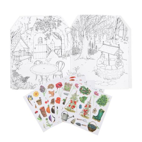 Moulin Roty Mal- und Stickerbuch Le Jardinier