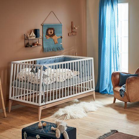 Leander Luna Babybett 140x70 cm Weiß/Eiche