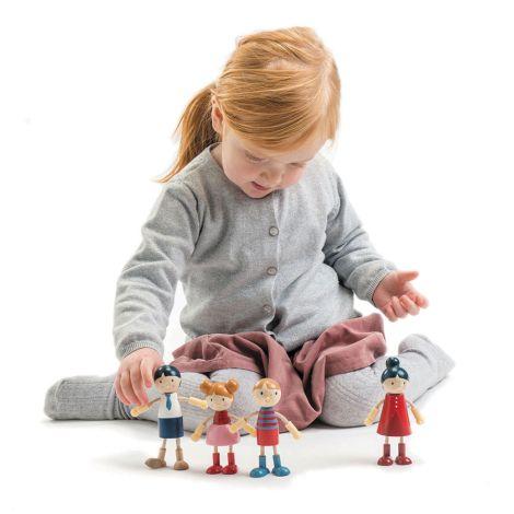 Tender Leaf Toys Doll Familie für Puppenhaus