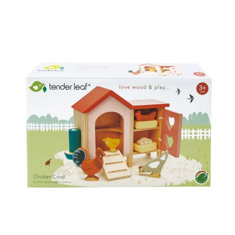 Tender Leaf Toys Hühnerstall für Puppenhaus