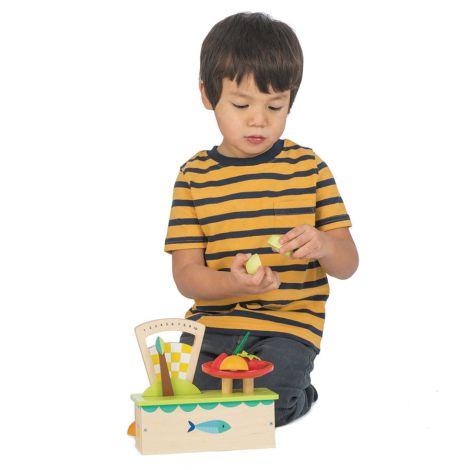 Tender Leaf Toys Waage mit Früchten