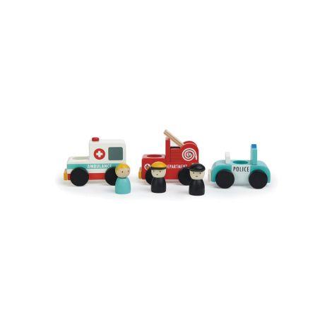 Tender Leaf Toys Einsatzfahrzeuge