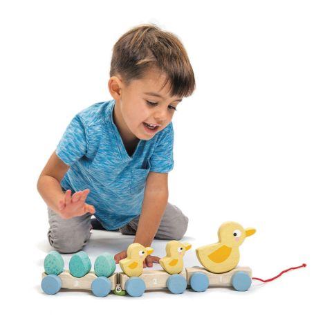 Tender Leaf Toys Nachziehtier Ente