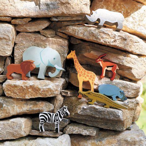 Tender Leaf Toys Tiere Safari im Setzkasten