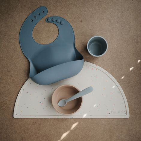 Mushie Platzset Silikon Vanilla Confetti
