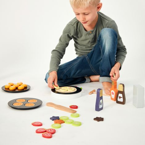 mama memo Spielzeug Pfannkuchen Set