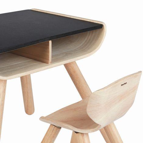 PlanToys Schreibtisch & Stuhl Schwarz