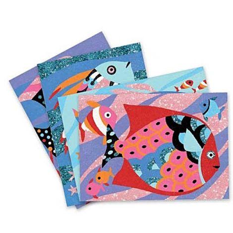 Djeco Sandbild Farbenfrohe Fische
