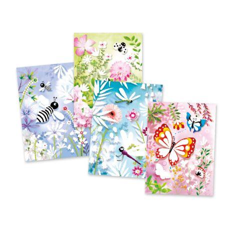 Djeco Glitzerkarten Schmetterlinge