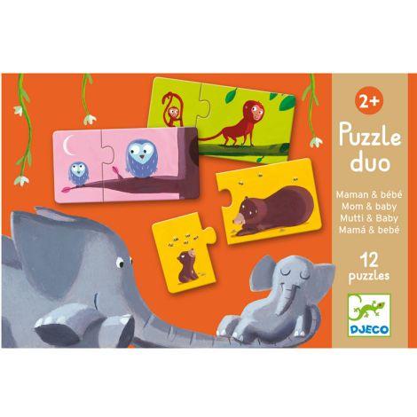 Djeco Duo-Puzzle Mami und Kind