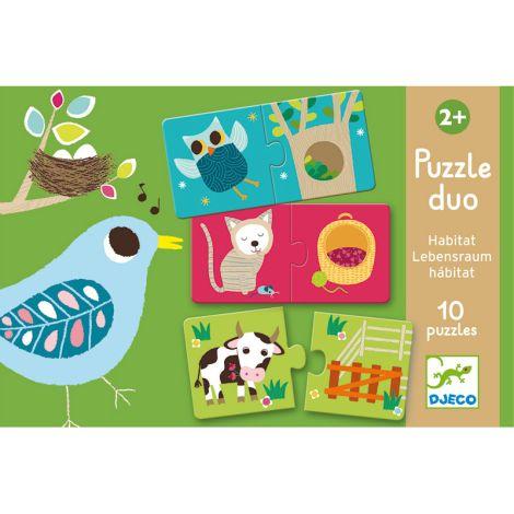 Djeco Duo-Puzzle Lebensräume