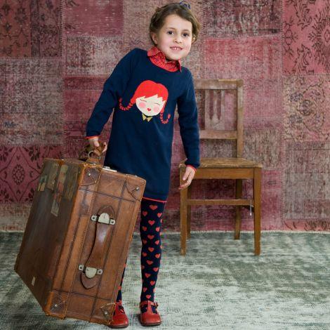 Room Seven Sweatshirt Koko/Girl Intarsia Rot