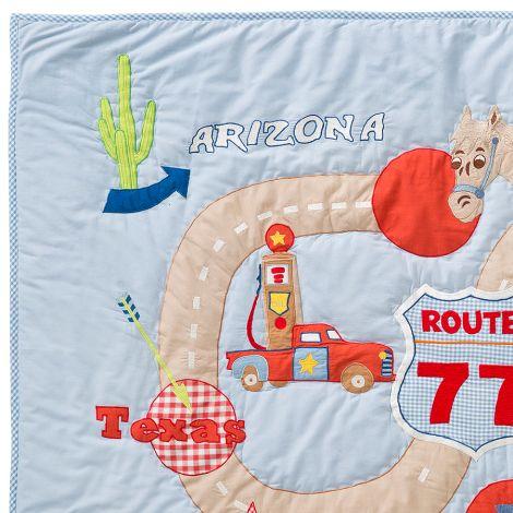 Room Seven Quilt Route 77 Blau 90 x 120 cm