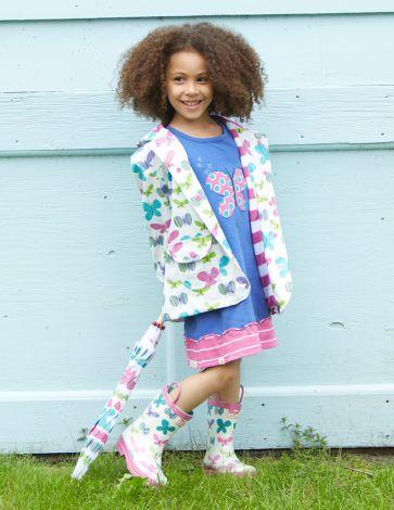 Hatley Kinder Regenjacke Ditsy Butterflies 3T