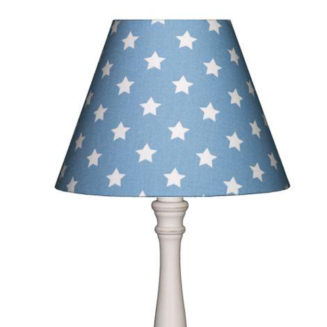 Lampenschirm Sterne auf Hellblau