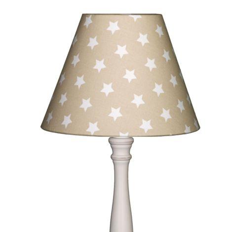 Lampenschirm Sterne auf Beige