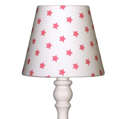 Lampenschirm Weiß mit pinken Sternen