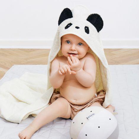 LIEWOOD Kapuzenhandtuch Albert Panda Creme de la Creme