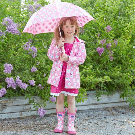 Hatley Kinder Gummistiefel Flower Heart Garden