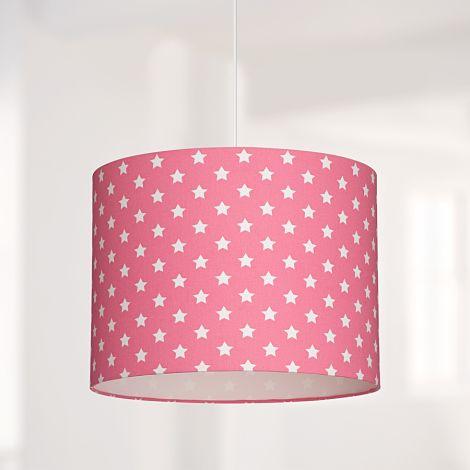 Lampenschirm Sterne Pink