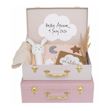 JaBaDaBaDo Aufbewahrungskoffer Pink 2er-Set