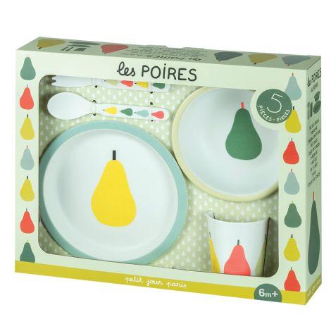 Petit Jour Paris Geschirr-Set in Geschenkbox Birnen 5-teilig