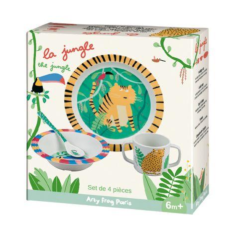Petit Jour Paris Geschirr-Set in Geschenkbox Dschungel 4-teilig