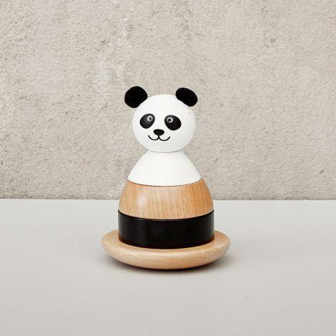 byASTRUP Stapelturm aus Holz Panda