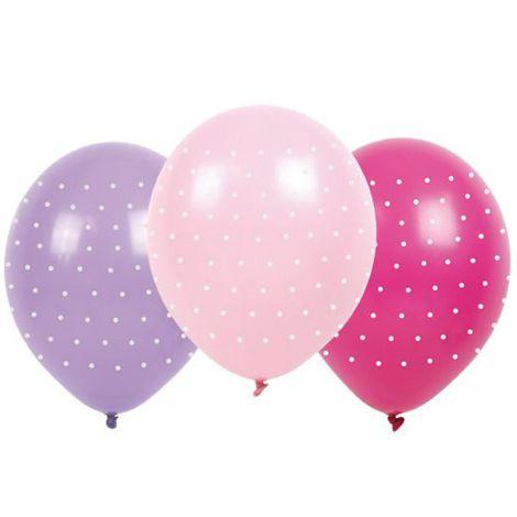 JaBaDaBaDo Luftballons Pink mit Punkten 6 Stk.
