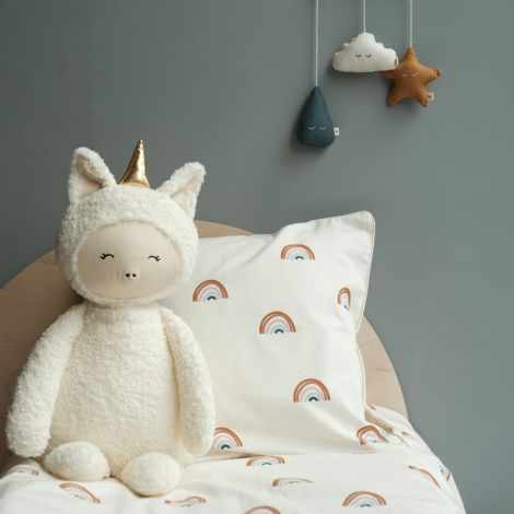 Fabelab Kuscheltier Big Buddy Unicorn Bio-Baumwolle