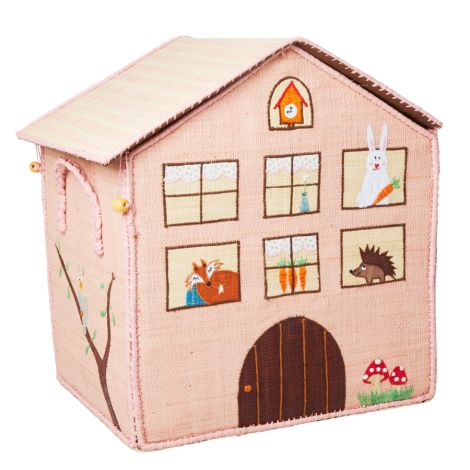 Rice Spielzeugkorb Jungle House Rosa