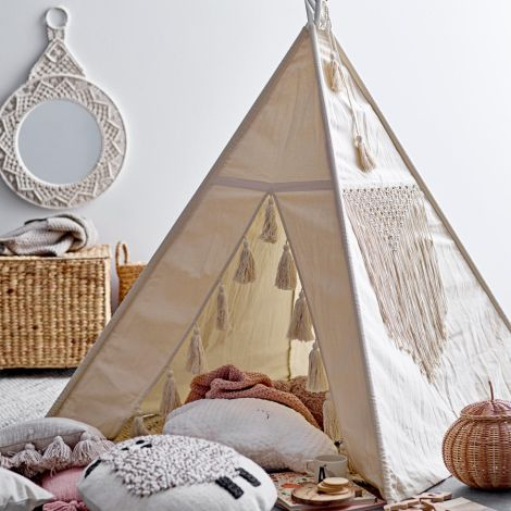 Bloomingville Spielzelt Tipi Nature